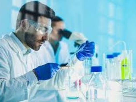 man in a lab test